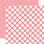 Echo Park - Candy Shoppe Dots and Stripes Collection - 12 x 12 Double Sided Paper - Bubblegum Large Dot