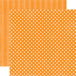 Echo Park - Candy Shoppe Dots and Stripes Collection - 12 x 12 Double Sided Paper - Mango Small Dot