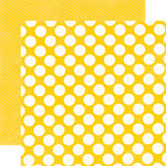 Echo Park - Candy Shoppe Dots and Stripes Collection - 12 x 12 Double Sided Paper - Lemon Drop Large Dot