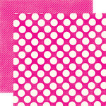 Echo Park - Candy Shoppe Dots and Stripes Collection - 12 x 12 Double Sided Paper - Watermelon Large Dot