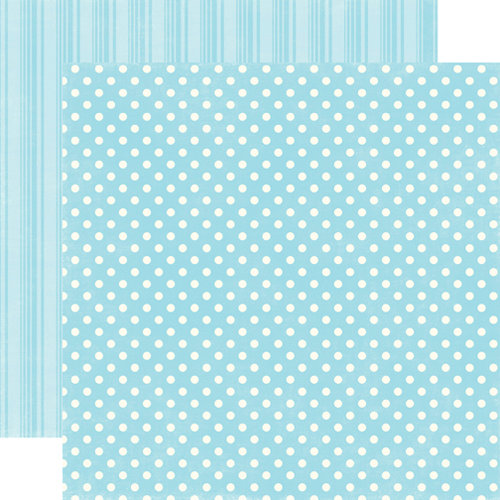 Echo Park - Candy Shoppe Dots and Stripes Collection - 12 x 12 Double Sided Paper - Raspberry Small Dot