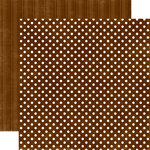 Echo Park - Candy Shoppe Dots and Stripes Collection - 12 x 12 Double Sided Paper - Chocolate Small Dot