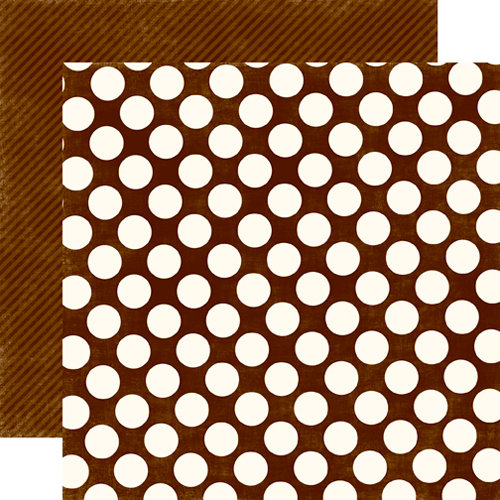 Echo Park - Candy Shoppe Dots and Stripes Collection - 12 x 12 Double Sided Paper - Chocolate Large Dot