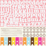 Echo Park - Candy Shoppe Dots and Stripes Collection - 12 x 12 Cardstock Stickers - Alphabet