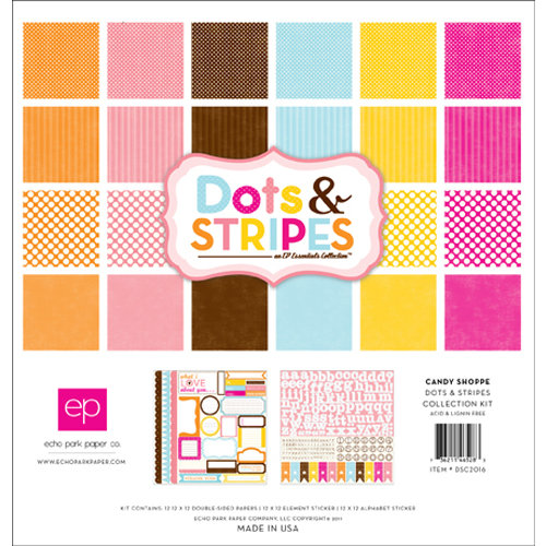 Echo Park - Candy Shoppe Dots and Stripes Collection - 12 x 12 Collection Kit