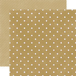 Echo Park - Christmas Dots and Stripes Collection - 12 x 12 Double Sided Paper - Tinsel Small Dot