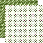 Echo Park - Christmas Dots and Stripes Collection - 12 x 12 Double Sided Paper - Snowy Pine Medium Dot