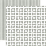 Echo Park - Christmas Dots and Stripes Collection - 12 x 12 Double Sided Paper - Silver Bells Small Dot