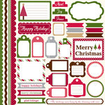 Echo Park - Christmas Dots and Stripes Collection - 12 x 12 Cardstock Stickers - Elements