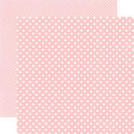 Echo Park - Homefront Dots and Stripes Collection - 12 x 12 Double Sided Paper - Peony Small Dot