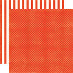 Echo Park - Homefront Dots and Stripes Collection - 12 x 12 Double Sided Paper - Ladybug Tiny Dot
