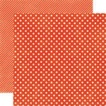 Echo Park - Homefront Dots and Stripes Collection - 12 x 12 Double Sided Paper - Ladybug Small Dot