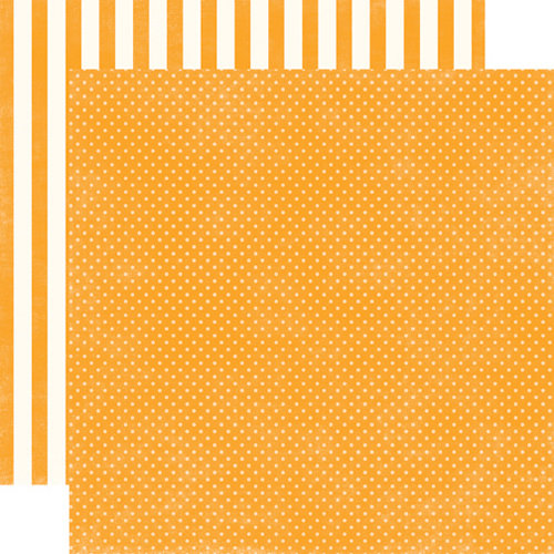 Echo Park - Homefront Dots and Stripes Collection - 12 x 12 Double Sided Paper - Marmalade Tiny Dot