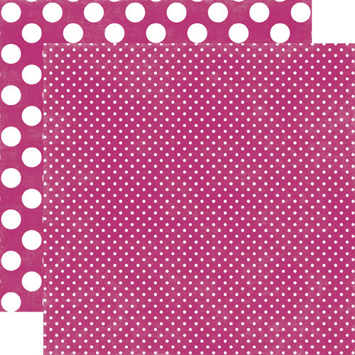 Echo Park - Jewels Dots and Stripes Collection - 12 x 12 Double Sided Paper - Amethyst Tiny Dot