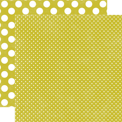 Echo Park - Jewels Dots and Stripes Collection - 12 x 12 Double Sided Paper - Peridot Tiny Dot