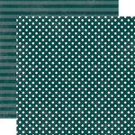 Echo Park - Jewels Dots and Stripes Collection - 12 x 12 Double Sided Paper - Emerald Small Dot