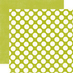 Echo Park - Metropolitan Dots and Stripes Collection - 12 x 12 Double Sided Paper - Leaf Large Dot