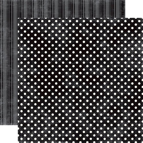 Echo Park - Metropolitan Dots and Stripes Collection - 12 x 12 Double Sided Paper - Tuxedo Small Dot