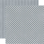 Echo Park - Metropolitan Dots and Stripes Collection - 12 x 12 Double Sided Paper - Concrete Small Dot