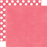 Echo Park - Neapolitan Dots and Stripes Collection - 12 x 12 Double Sided Paper - Very Cherry Tiny Dot