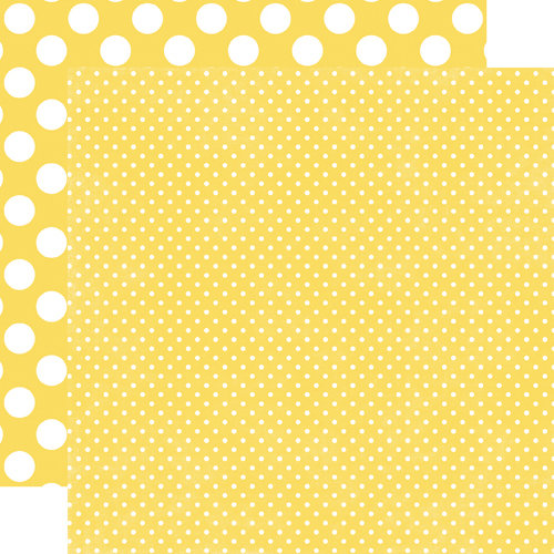 Echo Park - Neapolitan Dots and Stripes Collection - 12 x 12 Double Sided Paper - Pineapple Tiny Dot