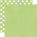Echo Park - Neapolitan Dots and Stripes Collection - 12 x 12 Double Sided Paper - Lime Sherbet Tiny Dot