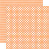 Echo Park - Neapolitan Dots and Stripes Collection - 12 x 12 Double Sided Paper - Peaches and Cream Small Dot