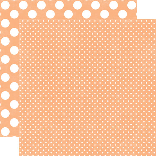 Echo Park - Neapolitan Dots and Stripes Collection - 12 x 12 Double Sided Paper - Peaches and Cream Tiny Dot