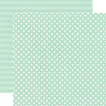 Echo Park - Neapolitan Dots and Stripes Collection - 12 x 12 Double Sided Paper - Mint Small Dot