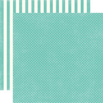 Echo Park - Soda Fountain Dots and Stripes Collection - 12 x 12 Double Sided Paper - Aqua Tiny Dot