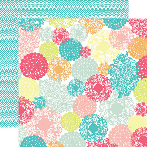Echo Park - Everyday Eclectic Collection - 12 x 12 Double Sided Paper - Doily Multi