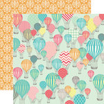 Echo Park - Everyday Eclectic Collection - 12 x 12 Double Sided Paper - Hot Air Balloons
