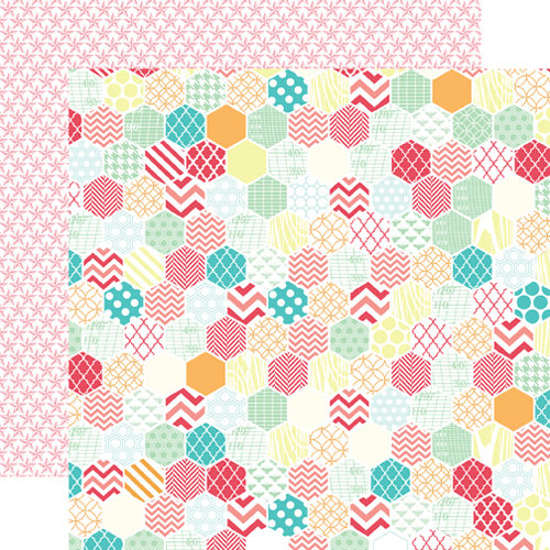 Echo Park - Everyday Eclectic Collection - 12 x 12 Double Sided Paper - Large Hexagon