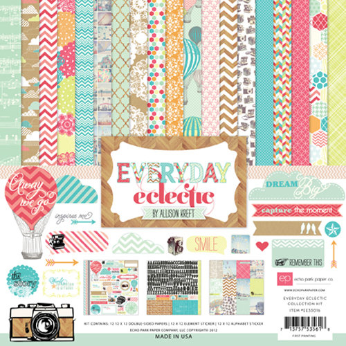 Echo Park - Everyday Eclectic Collection - 12 x 12 Collection Kit
