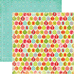 Echo Park - Everybody Loves Christmas Collection - 12 x 12 Double Sided Paper - Christmas Bells, CLEARANCE