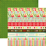 Echo Park - Everybody Loves Christmas Collection - 12 x 12 Double Sided Paper - Borders, CLEARANCE