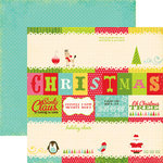 Echo Park - Everybody Loves Christmas Collection - 12 x 12 Double Sided Paper - Journaling Cards, CLEARANCE