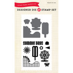 Echo Park - Summer Collection - Designer Die and Clear Acrylic Stamp Set - Summer Days