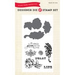 Echo Park - Spring Collection - Designer Die and Clear Acrylic Stamp Set - Things Grow Better with Love