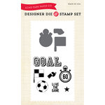Echo Park - Everyday Collection - Designer Die and Clear Acrylic Stamp Set - Soccer