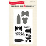 Echo Park - Spring Collection - Designer Die and Clear Acrylic Stamp Set - Sugar and Spice