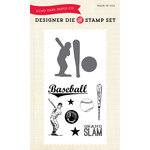 Echo Park - Everyday Collection - Designer Die and Clear Acrylic Stamp Set - Baseball