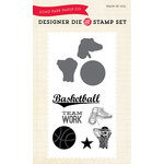 Echo Park - Everyday Collection - Designer Die and Clear Acrylic Stamp Set - Basketball