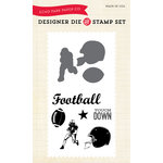 Echo Park - Everyday Collection - Designer Die and Clear Acrylic Stamp Set - Football