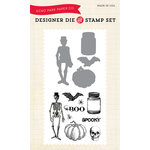 Echo Park - Fall - Designer Die and Clear Acrylic Stamp Set - Spooky Halloween