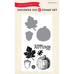 Echo Park - Fall - Designer Die and Clear Acrylic Stamp Set - Autumn Day