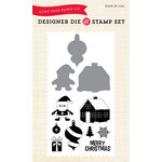 Echo Park - Christmas - Designer Die and Clear Acrylic Stamp Set - Santa's Village