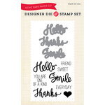 Echo Park - Sentiments - Designer Die and Clear Acrylic Stamp Set - Everyday Sentiments