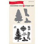 Echo Park - Christmas - Designer Die and Clear Acrylic Stamp Set - Tis the Season