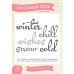 Echo Park - Winter - Designer Dies - Winter Word